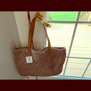 NWT straw bag